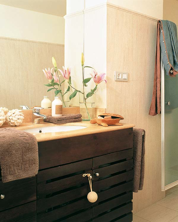 25 dise os de lavabos para ba o decorar casa y hogar for Accesorios para lavabo