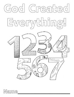 Look to him and be radiant creation numbers for 7 days of creation coloring pages