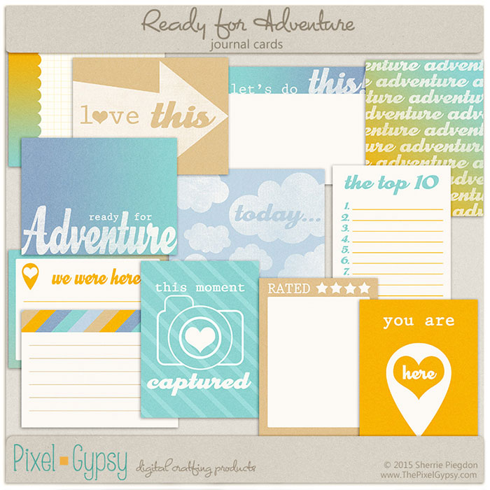 Ready for Adventure Travel Vacation Project Life Cards