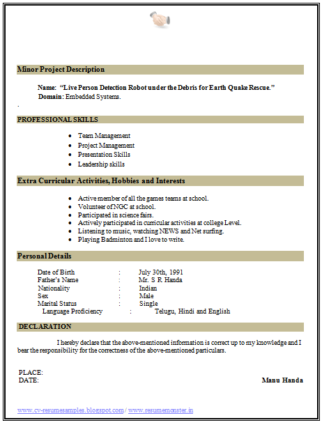 Resume Curriculum Vitae Example Interests over 10000 cv and resume samples with free download professional download