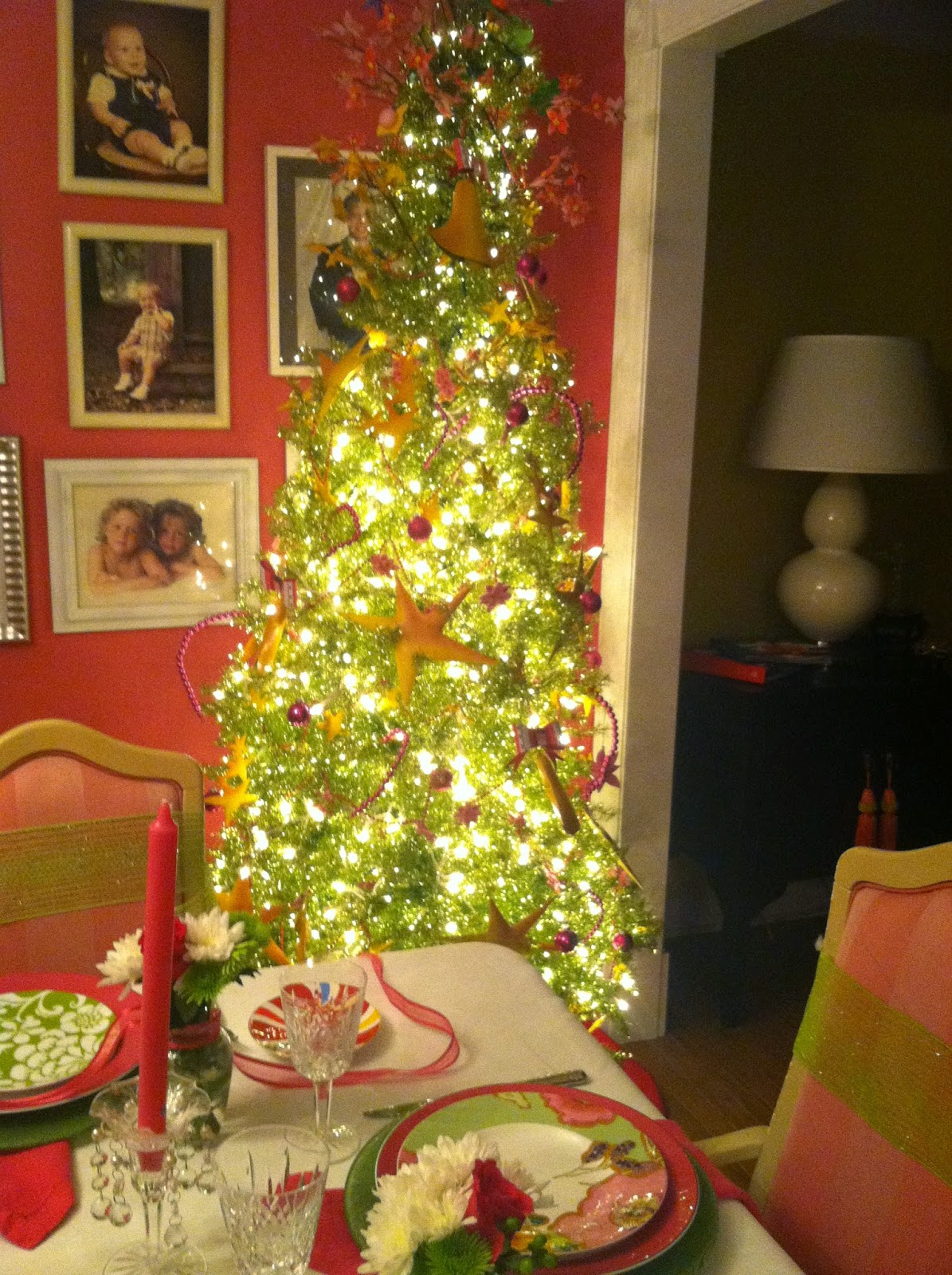 This Chartreuse Christmas Tree Inspired The Whimsical Tablescape