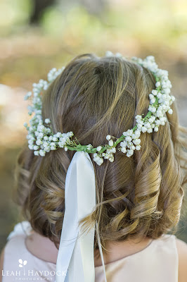 flower girls hair wreath