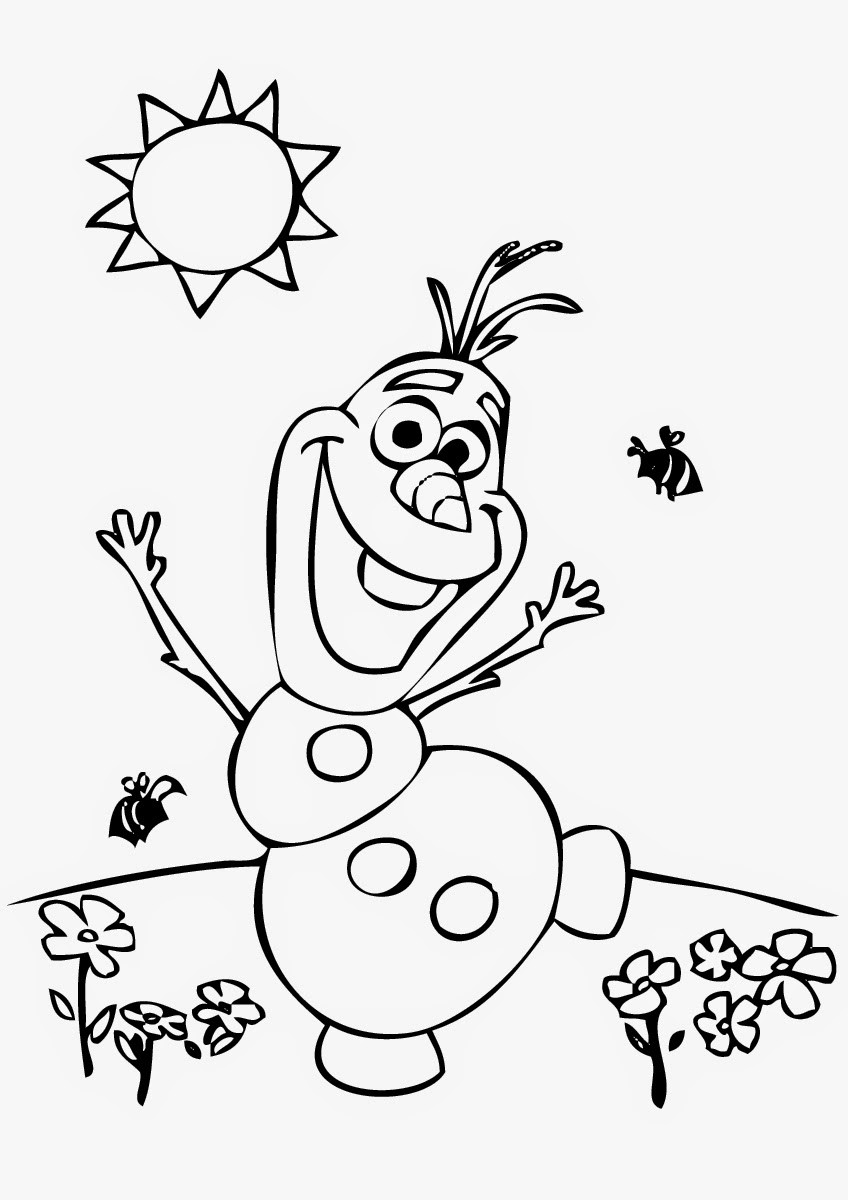 Free coloring pages printable frozen - Coloring Pages Of Olaf From Frozen