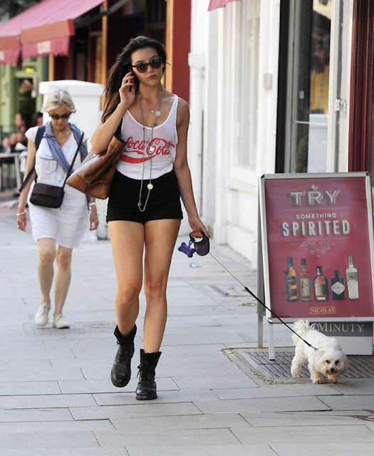 Daisy Lowe Booty in Shorts, Walking her Dog in London