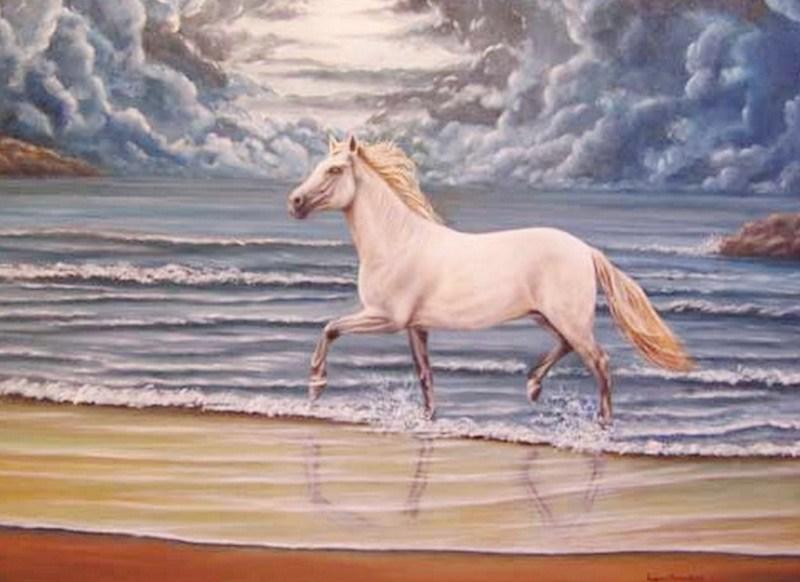 Pintura Moderna y Fotografía Artística : Cuadros de caballos ...