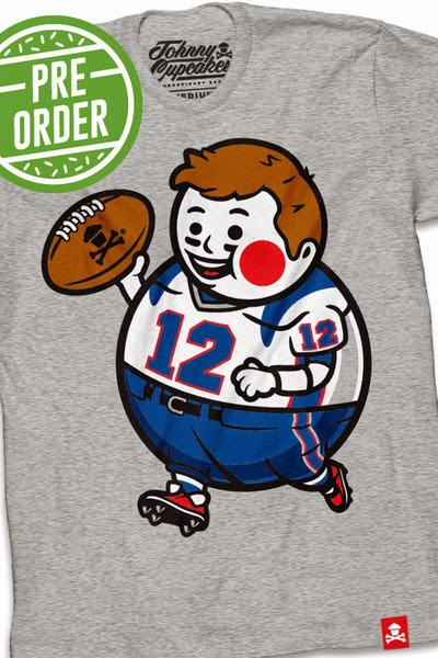 "Johnny Cupcakes x New England Patriots ""Big Kid Quarterback"" Tom Brady T-Shirt"
