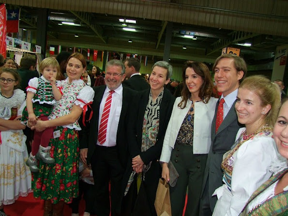 Prince Louis and Princess Tessy of Luxembourg attended the 55th edition of the International Bazaar of Luxembourg