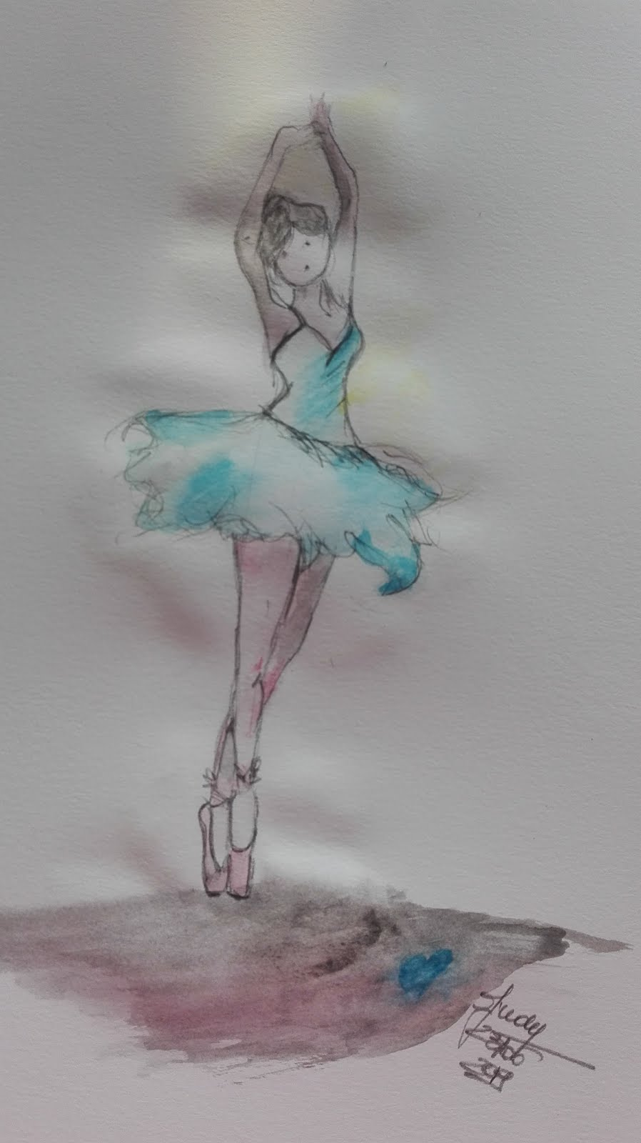 Ballerina in azzurro