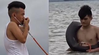 Vídeo : como un chino infla un tubo de goma con los oídos