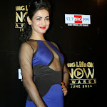 Sonal Chauhan hot in blue transparent