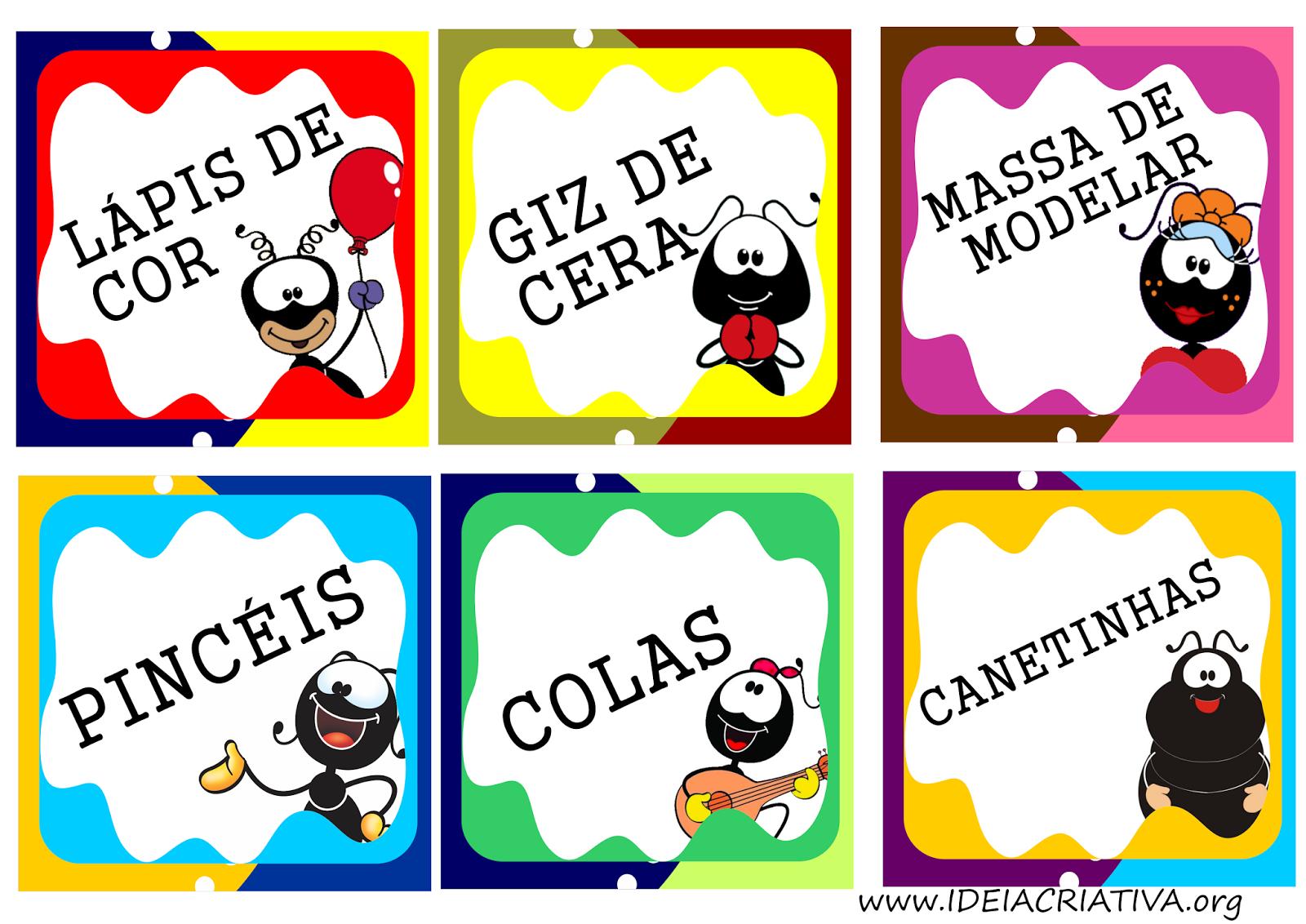 Etiquetas Smiliguido para organizar material escolar