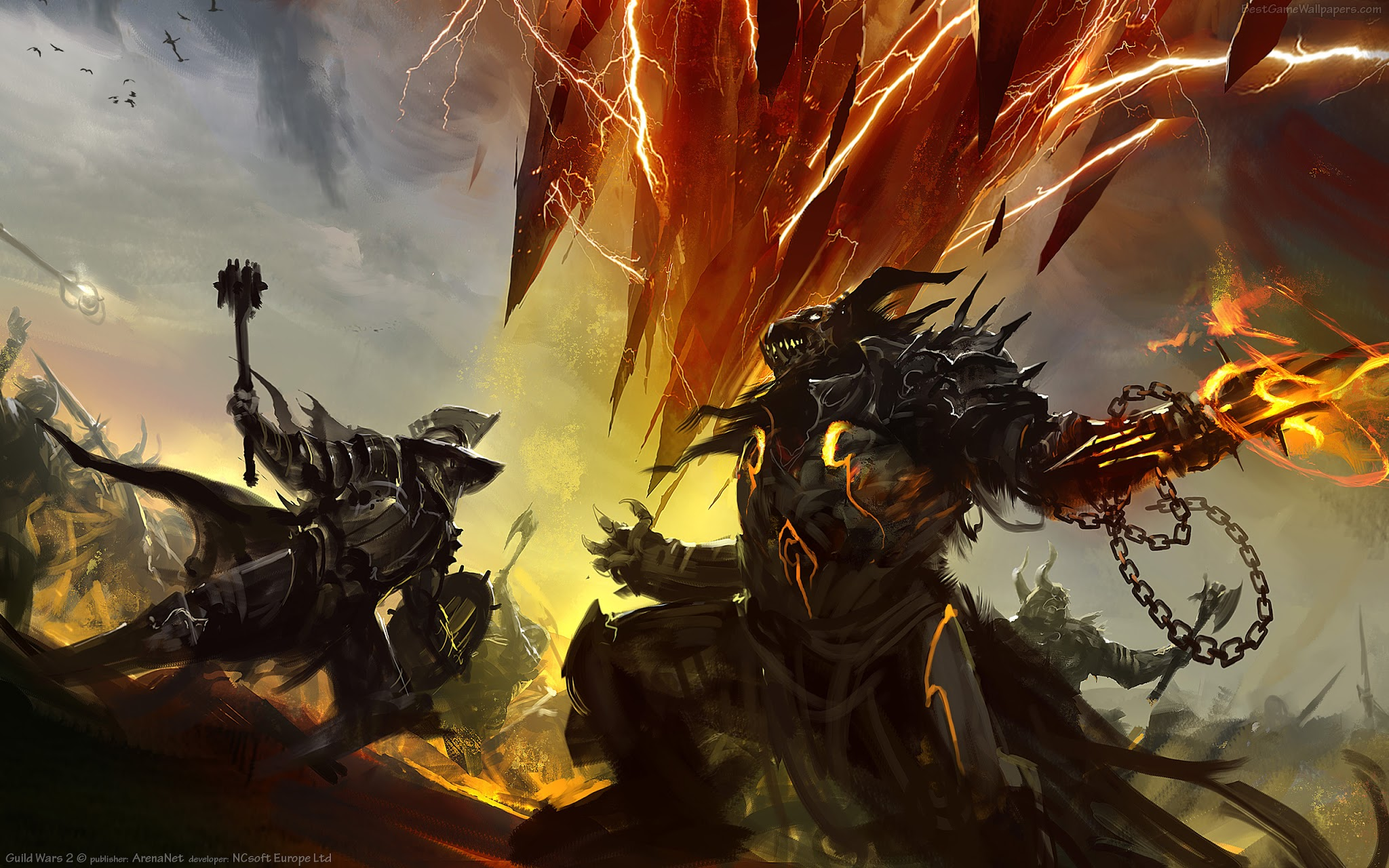 Epic Battle Knight Beast Weapons A77 HD Wallpaper