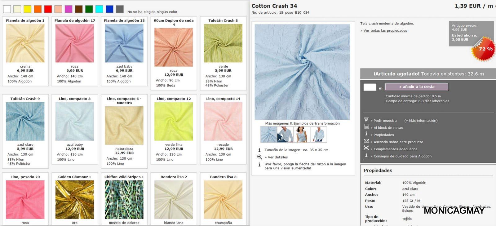 Telas baratas telas online comprar venta de tela por - Telas para cortinas por metros online ...