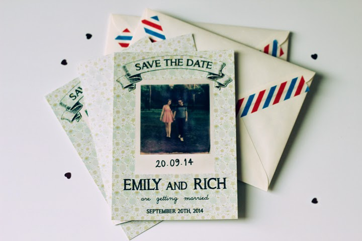 creative vintage save the dates