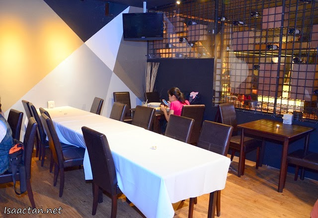 The interior decor have been changed to incorporate a more modern dining concept