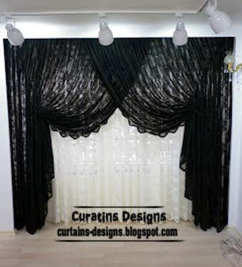 Black and white curtains top 10 designs of black and for Black and white curtain designs