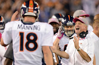 John Fox and the coaching staff (including Manning) have adjusted well in the second half...