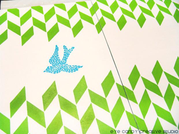 dove art, herringbone pattern, painting christmas art, living room gallery wall
