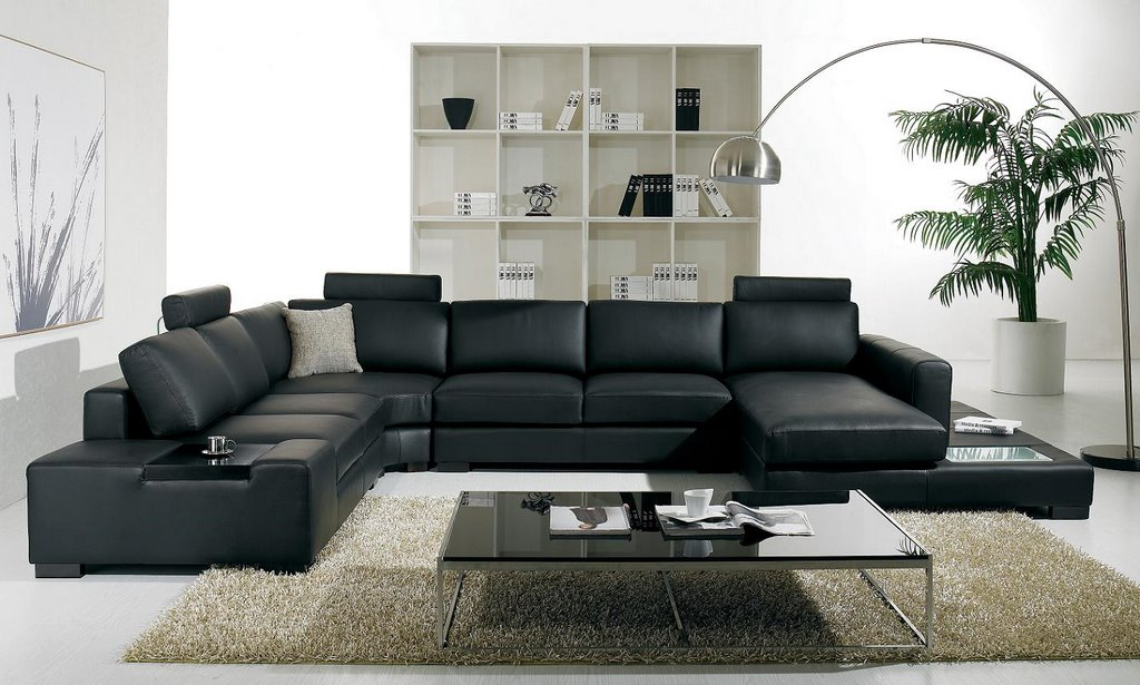Living Room with Black Leather Sofa-1.bp.blogspot.com