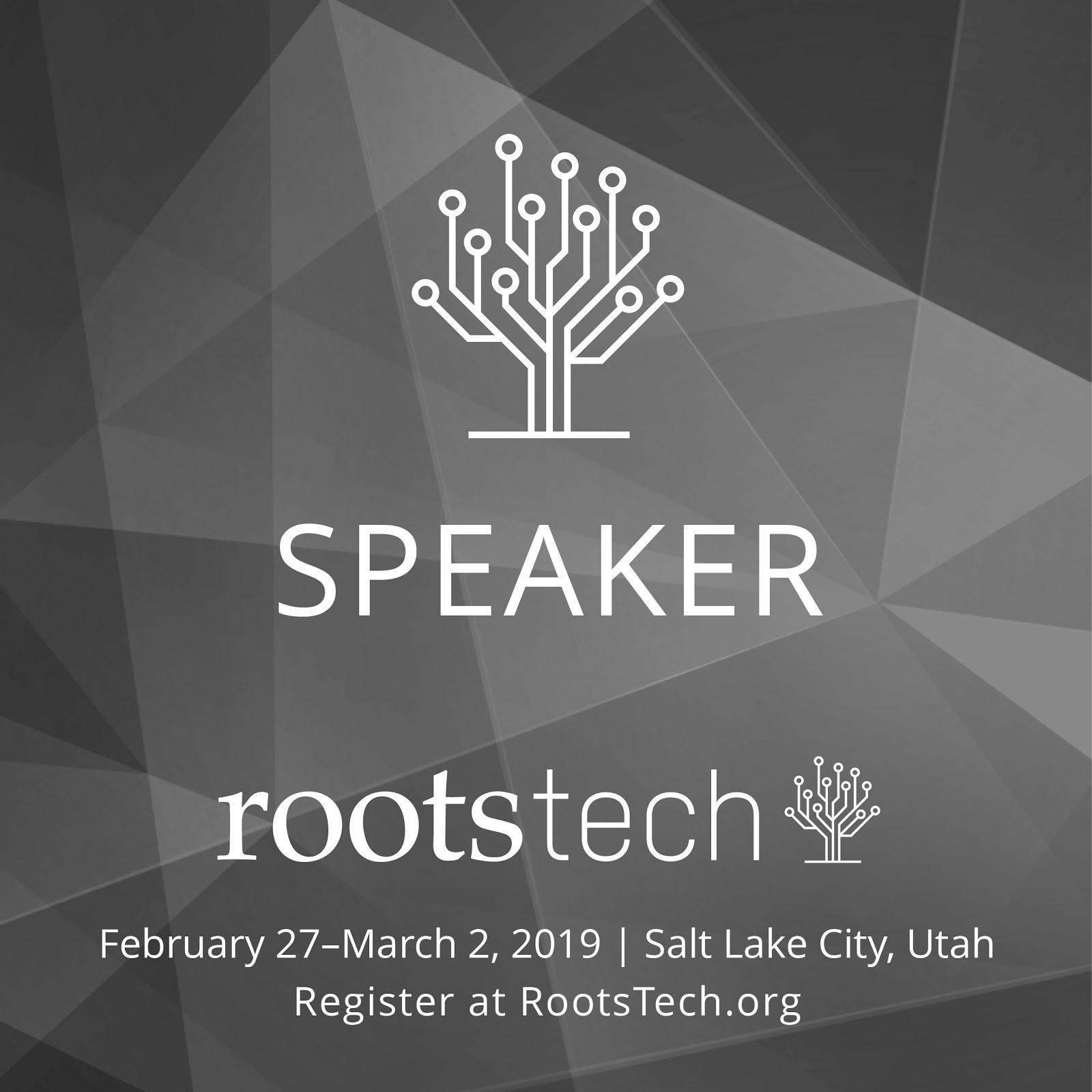 RootsTech2019 Speaker