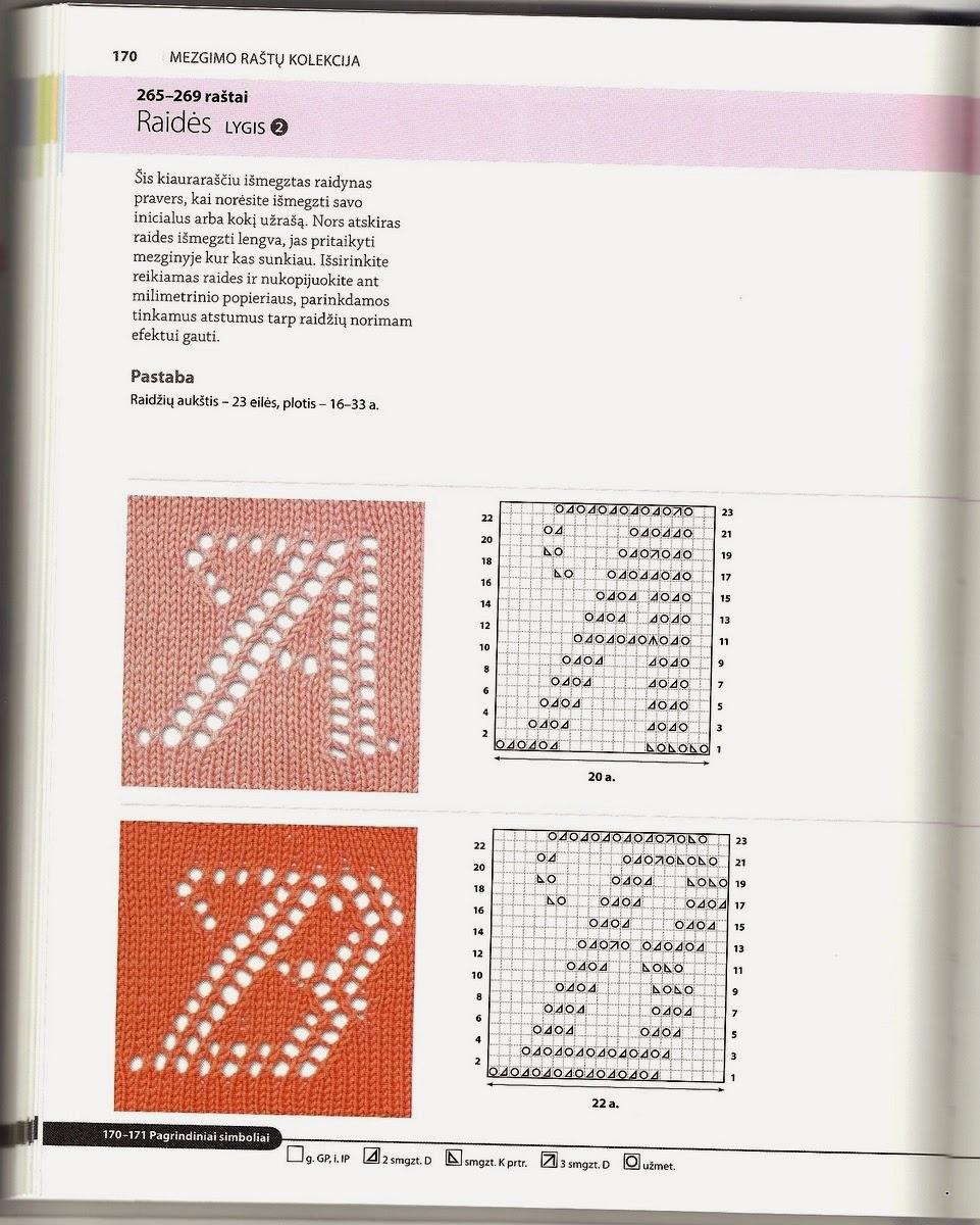 Вязаный алфавит крючком. Схемы для вязания 35
