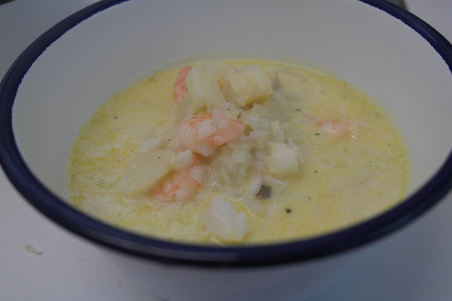 Smoked Haddock and Prawn Chowder by What Laura did Next