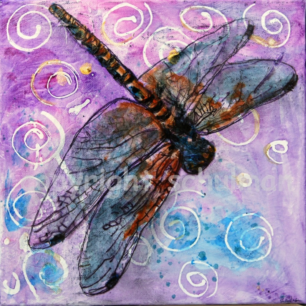 Art blog for the inspiration place soar with the dragonflies for Dragonfly mural