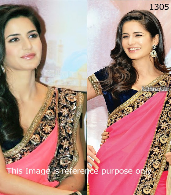 Katrina pink saree in promoting jab tak hai jaan