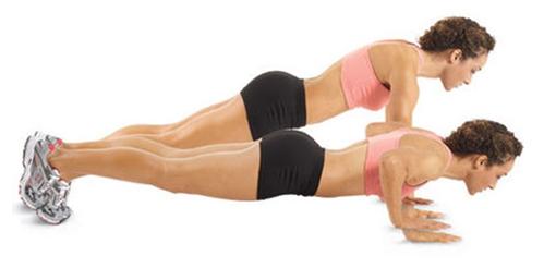 Hít đất bài tập thể dục giảm cân