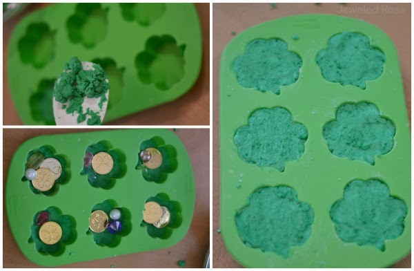 MAGIC Shamrocks with treasures hidden inside- getting the treasures out is all the fun!