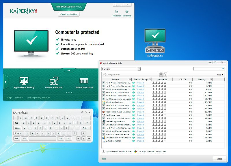 Kaspersky internet security with key