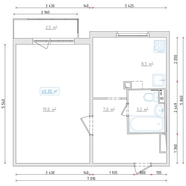 Уникальные дизайнерские идеи: планировка однокомнатной кварт.