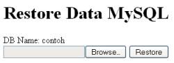 Form Restore Database