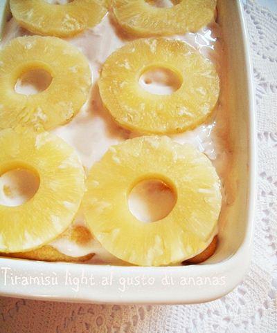 Tiramis light all' ananas