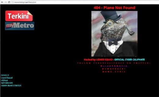 3 Gambar Paparan Skrin Laman Web Malaysia Airlines Di Gondam Pagi Tadi
