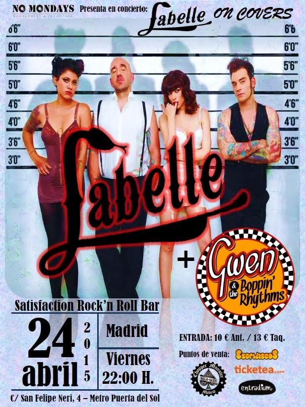 LaBelle + Gwen & The Boppin' Rhythms (24/04/15) - Satisfaction R'n R Bar