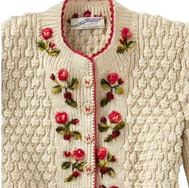 Mariettes Back To Basics My Hand Knitted Hand Embroidered Sweater