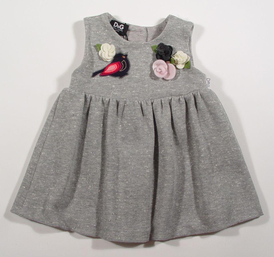 Designer Baby: Dolce & Gabbana Baby Gray Cotton Dress