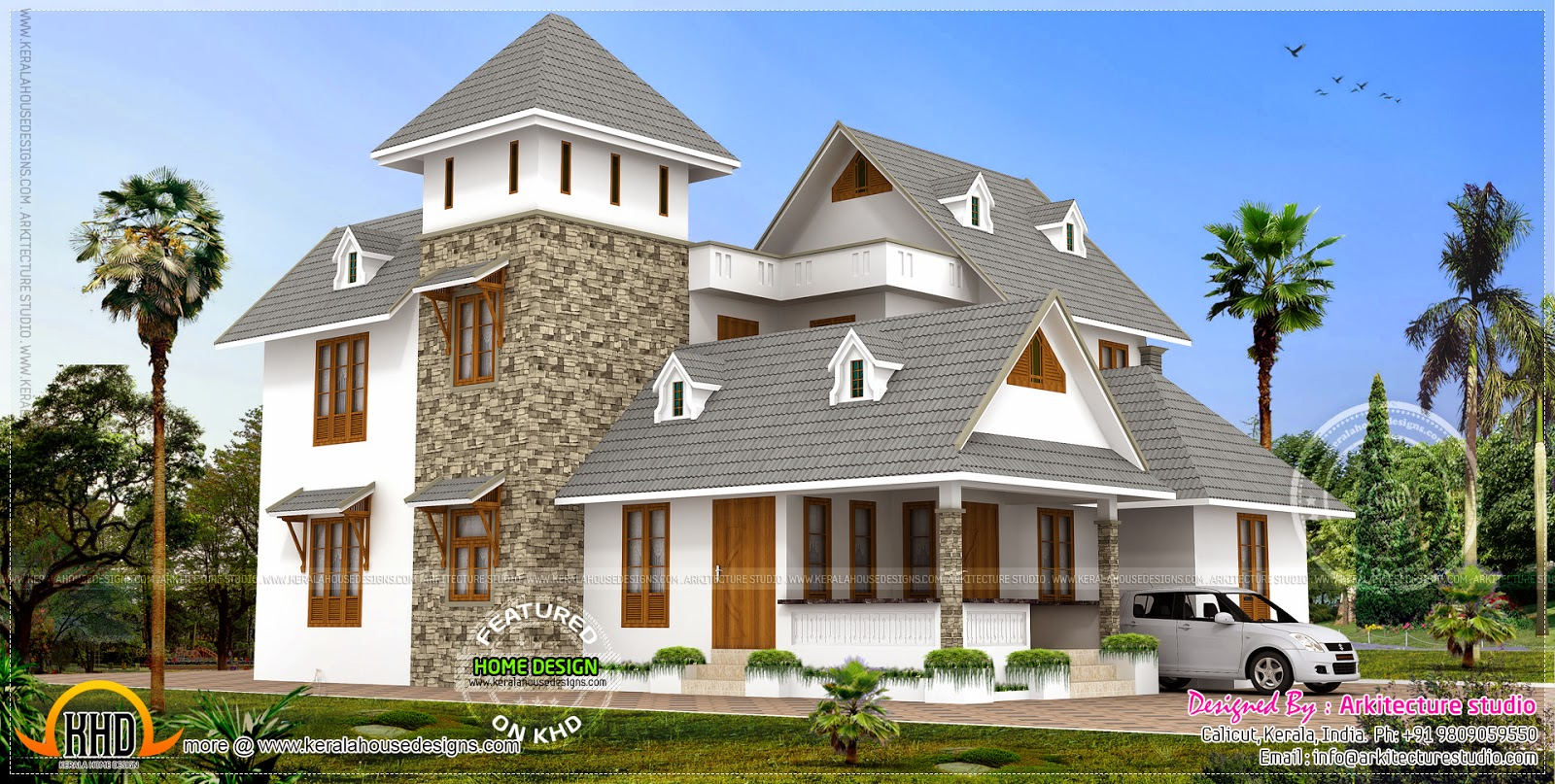 3000 new style home design kerala home design for New style home design