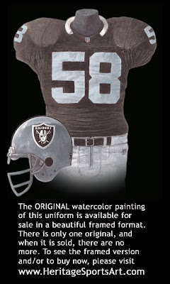 Los Angeles Raiders 1991 uniform -Oakland Raiders 1991 uniform