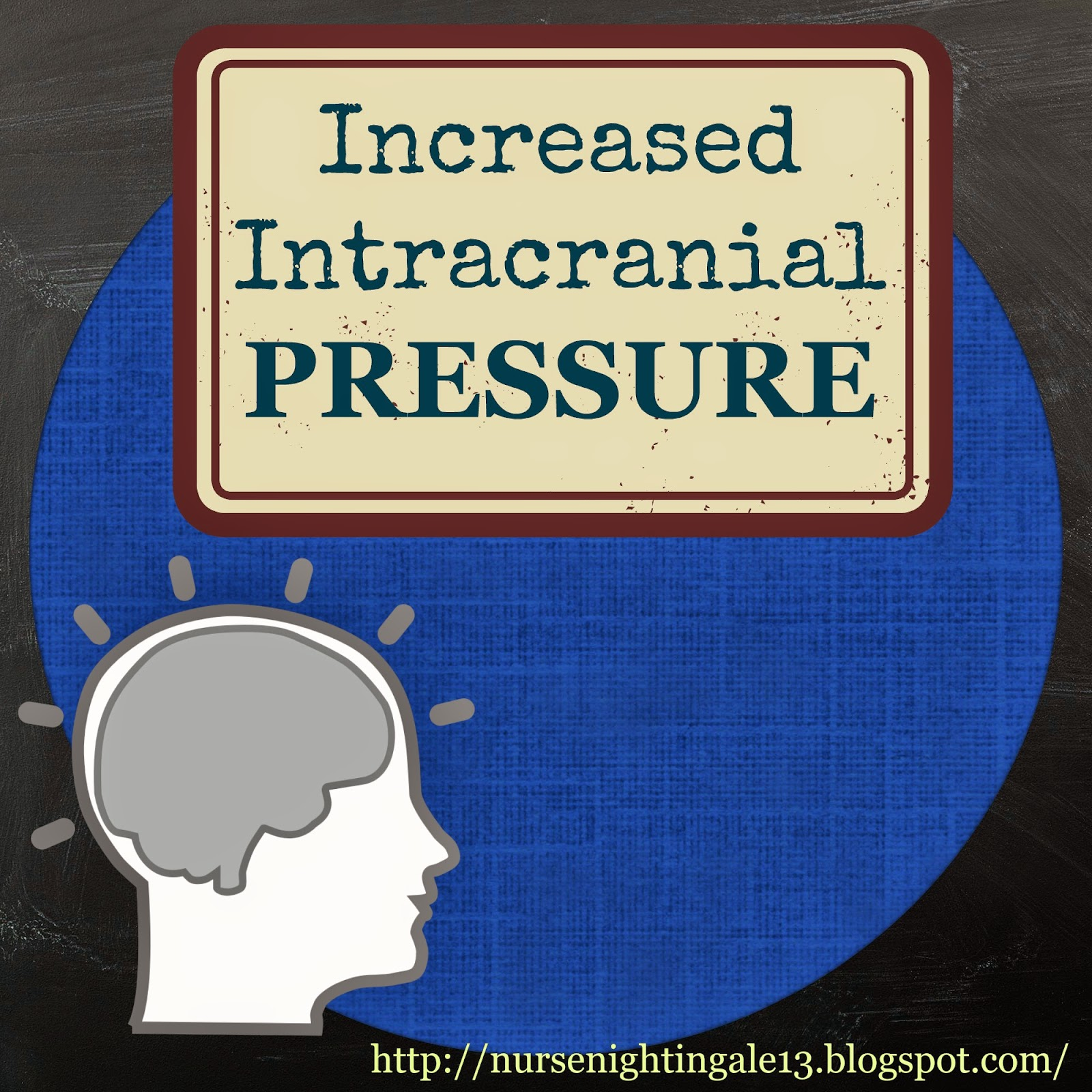 intracranial pressure Increased intracranial pressure can be due to a rise in pressure of the cerebrospinal fluid this is the fluid that surrounds the brain and spinal cord.