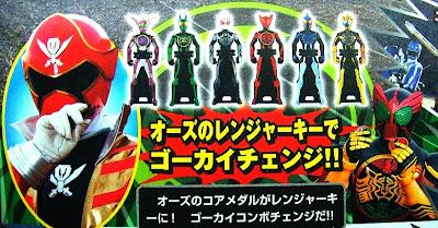 Gokaigers GokaiChange to Kamen Rider OOO Combos