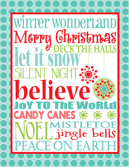 christmas printable subway art