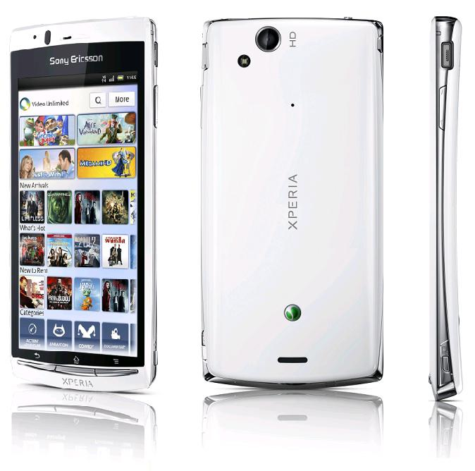 Android 4.0 on Sony Xperia, sony ericsson xperia arc s.jpg