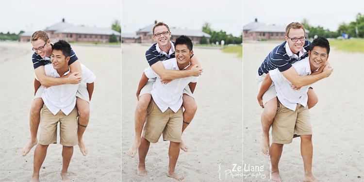 same-sex engagement session castle island boston ben&justin 15