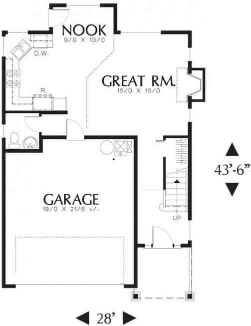 Baño Bajo Escalera Plano:Casa Habitación con 4 Dormitorios y Cochera 2 autos – Proyectos de