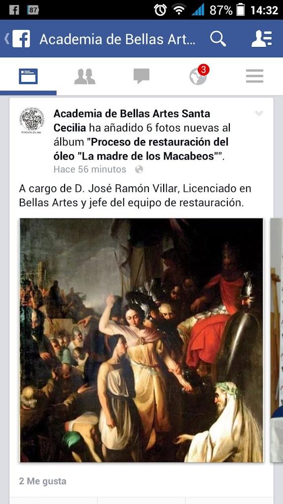 """Restauración """"La Madre de los Macabeos"""""""
