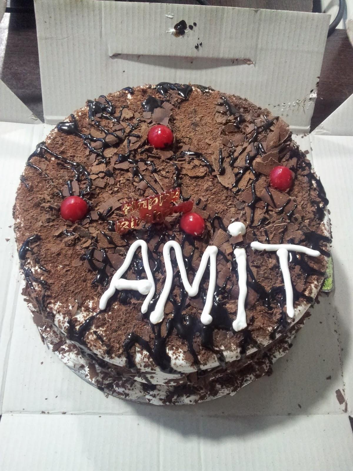 Birthday Cake With Name Amit Bhai