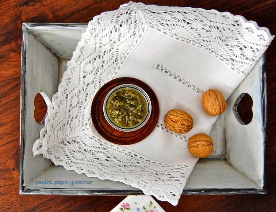Piedra papel o az car salsa pesto casera con nueces - Como se hace la salsa pesto para pasta ...