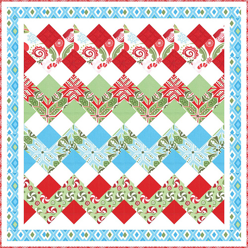 Quilting Patterns Xmas Free : Quilt Inspiration: Free pattern day: Christmas part 2: Gifts, ornaments and wreaths